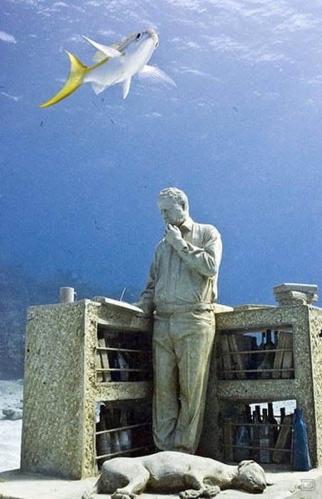Подводный парк скульптур в мире