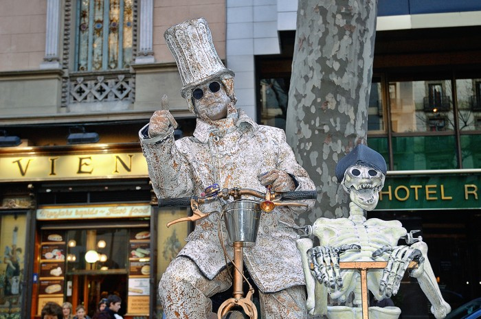 Живые скульптуры, Бульвар Рамбала, Барселона