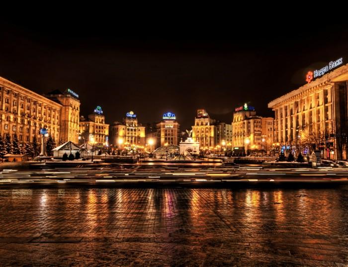 Достопримечательности Киева - ночной Киев