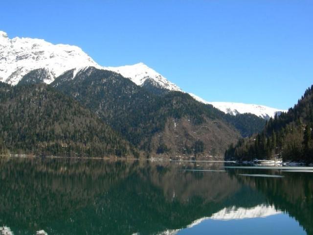 Западный Кавказ, озеро Рица